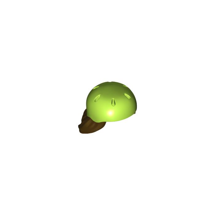 Lego Dark Brown Minifig Hair Combo Hair with Hat Long Hair Lime Bicycle Helmet