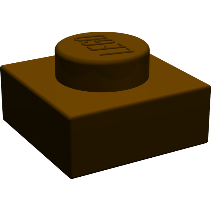 LEGO Parts~ Plate 1 x 1~ 3024 BROWN 10