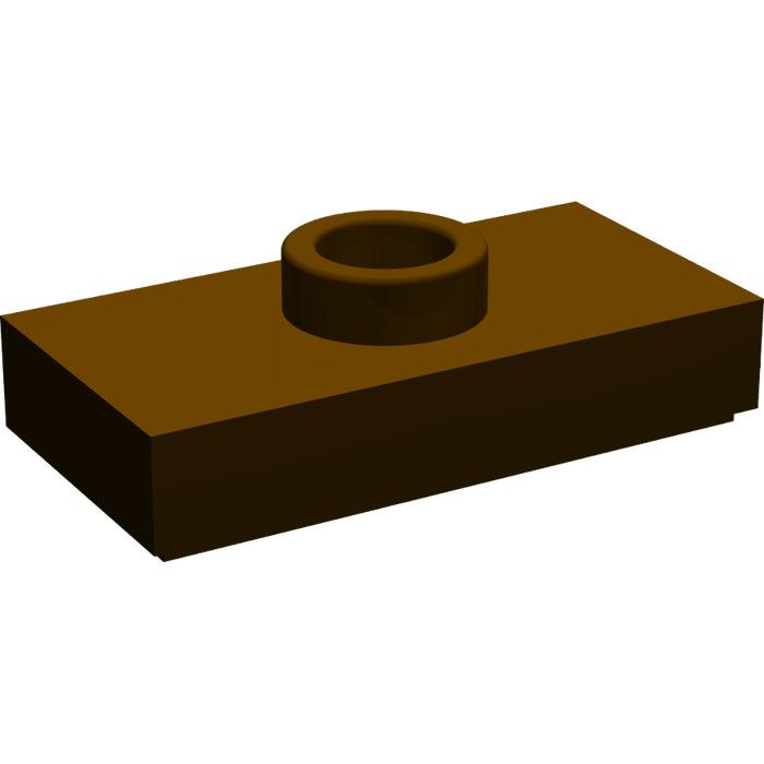Lego 8x Plate Modified 1x2 1 Stud with Groove tenon marron//reddish brown 15573