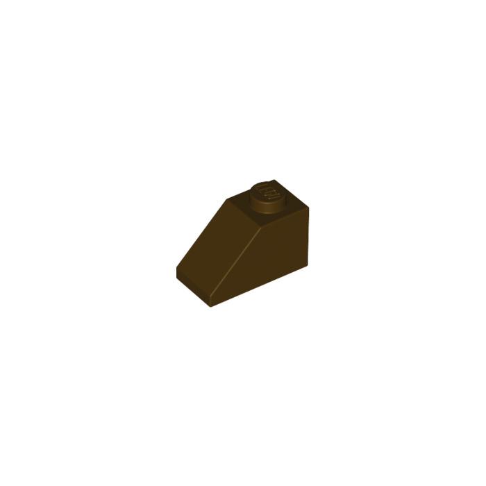 8 ~ 1x2 Dark Brown Standard Slope Brick Bricks ~ Lego ~ NEW