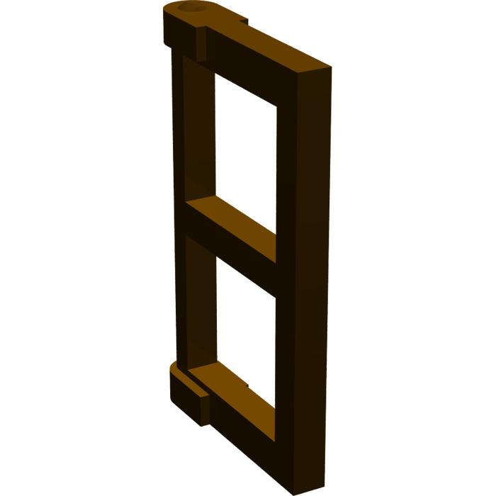Lego dark brown window 1 x 2 x 3 pane with thick corner for 2 x 3 window