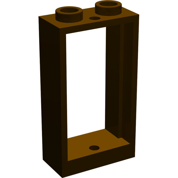 Lego marron fonc window 1 x 2 x 3 without sill brick for Fenetre lego
