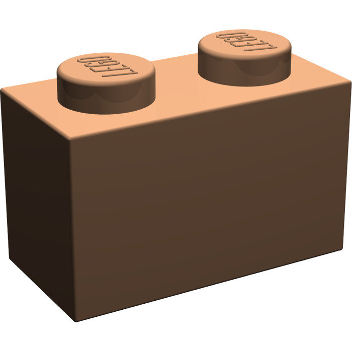 LEGO® Reddish Brown Brick 1 x 2 Design ID 3004