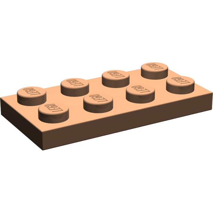 Flat 2x4 Beige 8 x lego 3020 Plate New New Brick Yellow, Tan