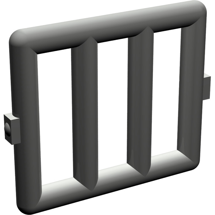 Lego dark gray bar 1 x 4 x 3 with 2 window hinges 6016 for 1 x 3 window