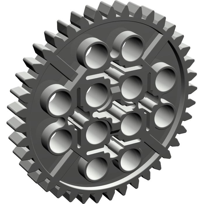 LEGO Dark Gray Gear with 40 Teeth (3649)