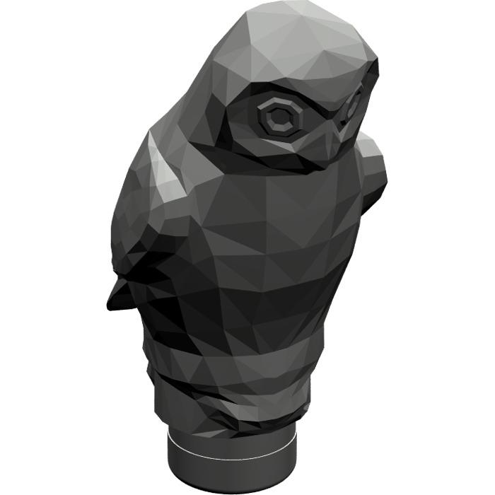 1x animal bird owl owl owl bird dark grey//dark gray 40232 new Lego