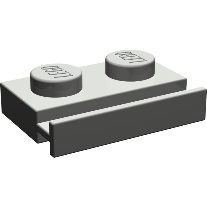 LEGO Dark Gray Plate 1 x 2 with Door Rail (32028)