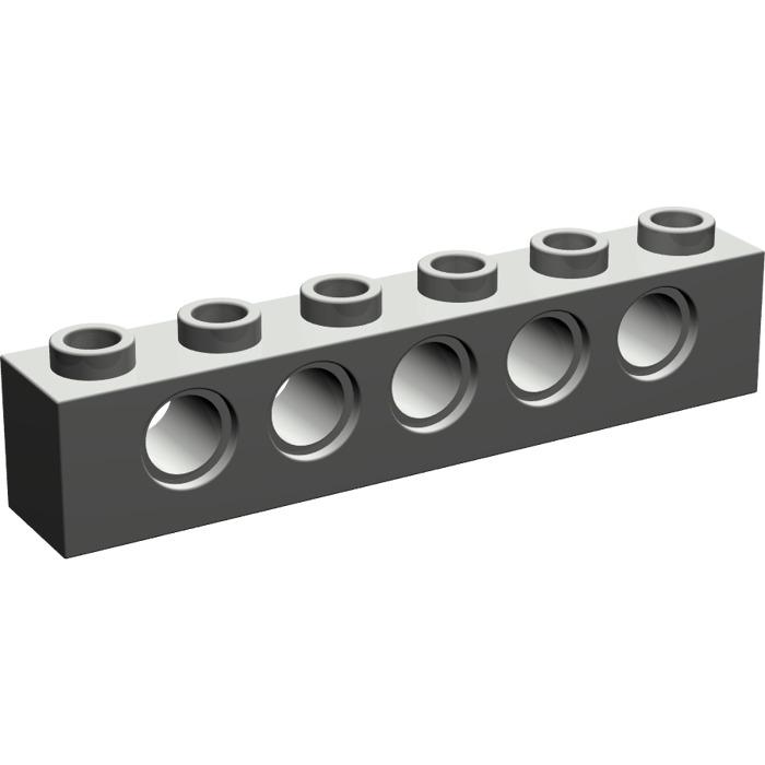 Lot lego technic pieces 4 dark gray bricks percees 14x1x1-tbe