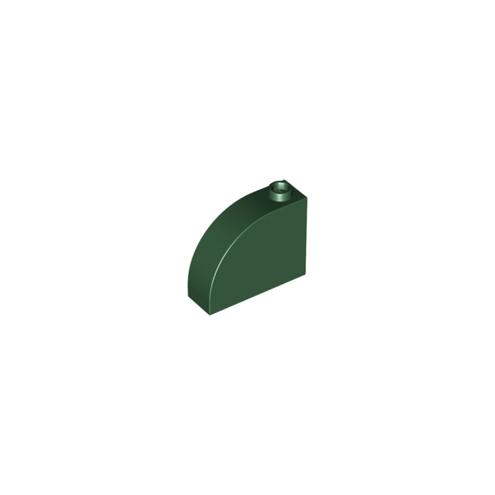 LEGO 33243 NEW Lime Green 1x3x2 Modified Curved Top 1 Stud Brick 10 Pieces