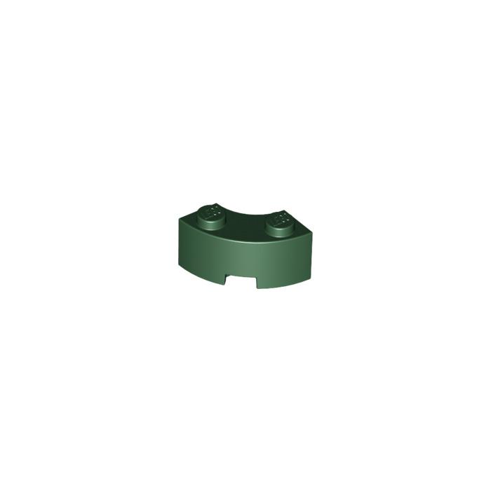Dark Green 2x2 X-Small Bow Bricks ~  Lego  ~ NEW ~ 6 Earth Green