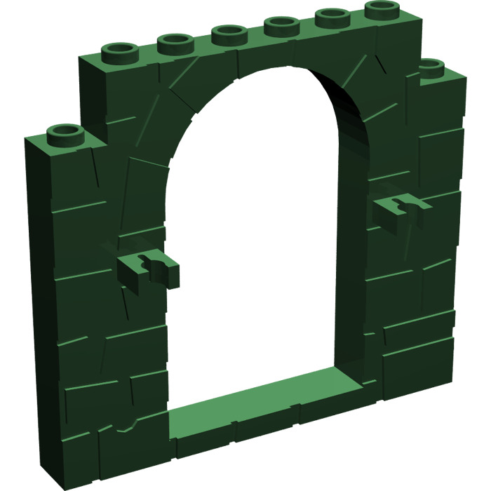 LEGO Dark Green Door 1 x 8 x 6 Frame (40242)   Brick Owl - LEGO ...