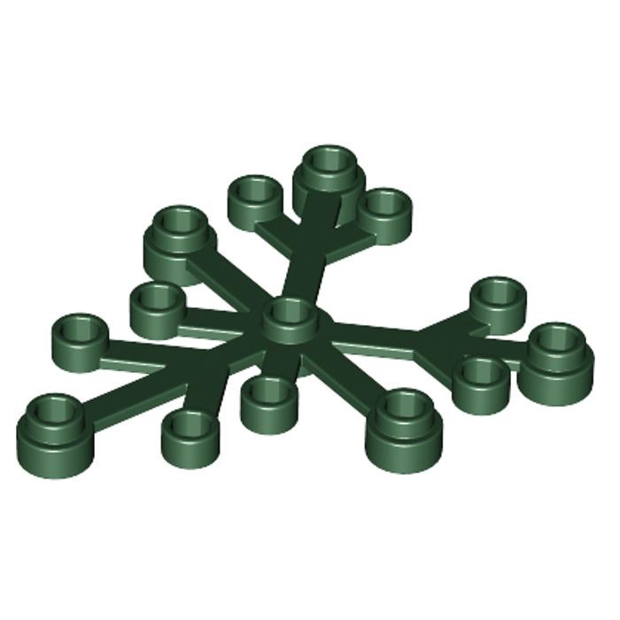Lego 2x Fleur Feuille Plant Leaves 6x5 vert foncé//dark green 2417 NEUF