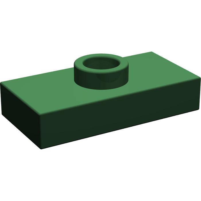 Bottom Stud Holder 20 Pcs Groove LEGO 15573 Black 1x2 PLATE 1 x 2  w// 1 Stud