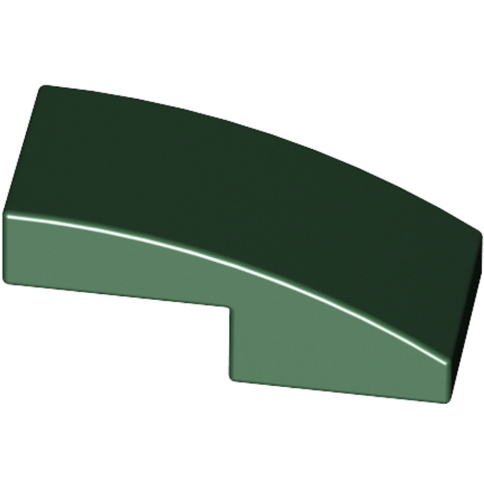 8 x Lego 11477 Lego curved brick curved 1x2 slope NEW NEW Green