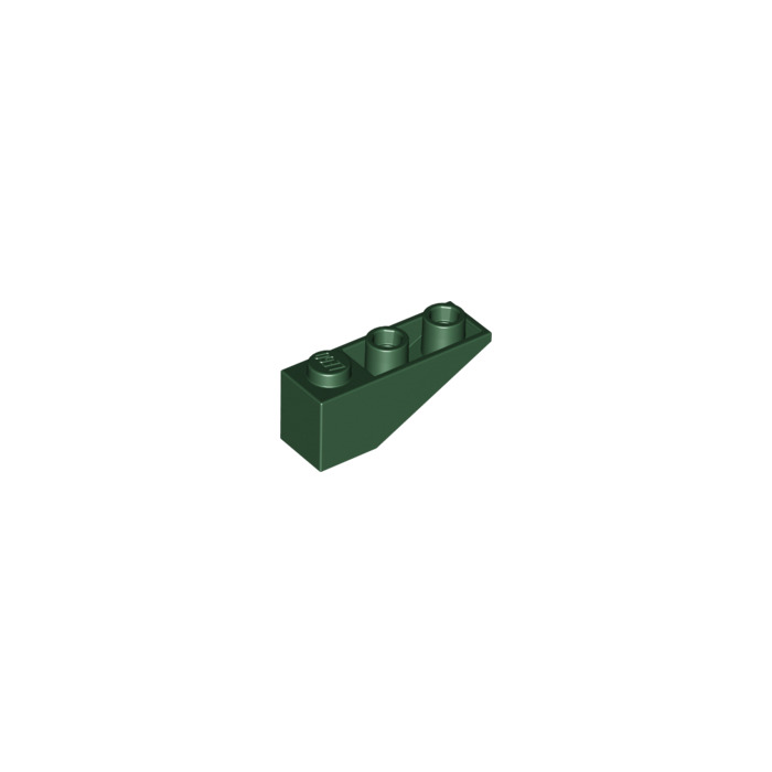 Lego 4 Dark Green 3x1 Inverted brick block Slopes NEW