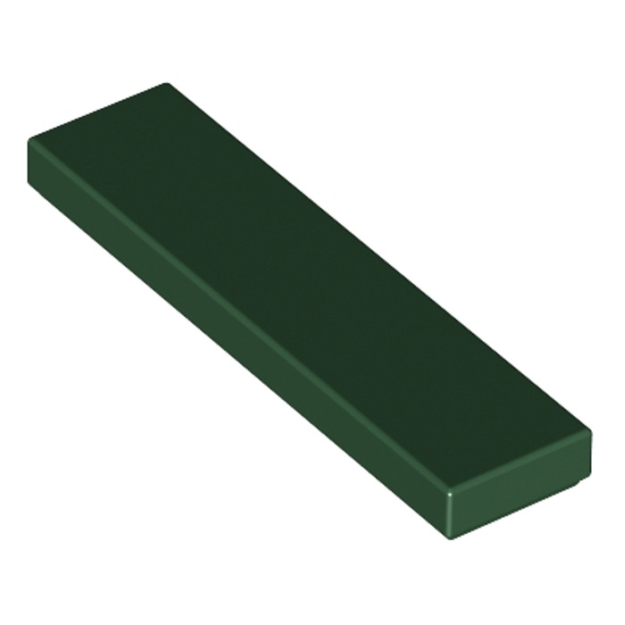 LEGO Lot of 4 Dark Green 1x4 Tile Pieces