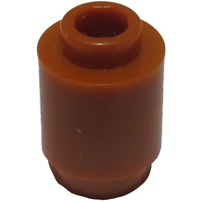 Lego 20x Genuine Dark Orange 1x1x1 Round Cylinder Studded Brick 6074890 3062 NEW