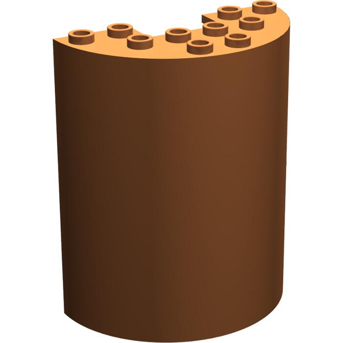 3 x 6 x 6 Weiß Halbrunder Zylinder Lego-- 87926