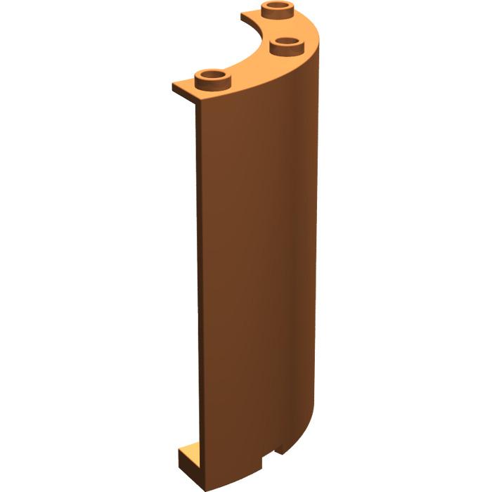 O Lego Lot 4 Dark Orange Quarter Cylinder 4 x 4 x 6 30562 10231 10213