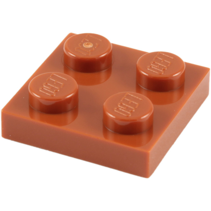 5x Lego 3022 Platte 2x2 dunkel orange dark orange 4165522  4615606