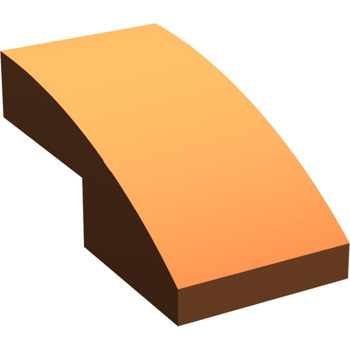 4 x lego 11477 curved brick slope brick curved 1x2 new new bright orange