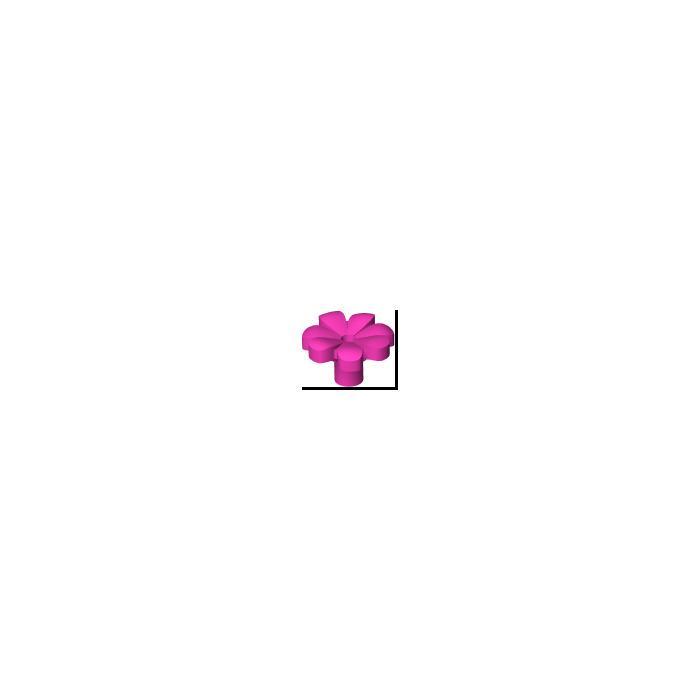 Plant Flower NEUF NEW 8 x LEGO 32606 Plante Fleur 7 Pétales rose dark pink