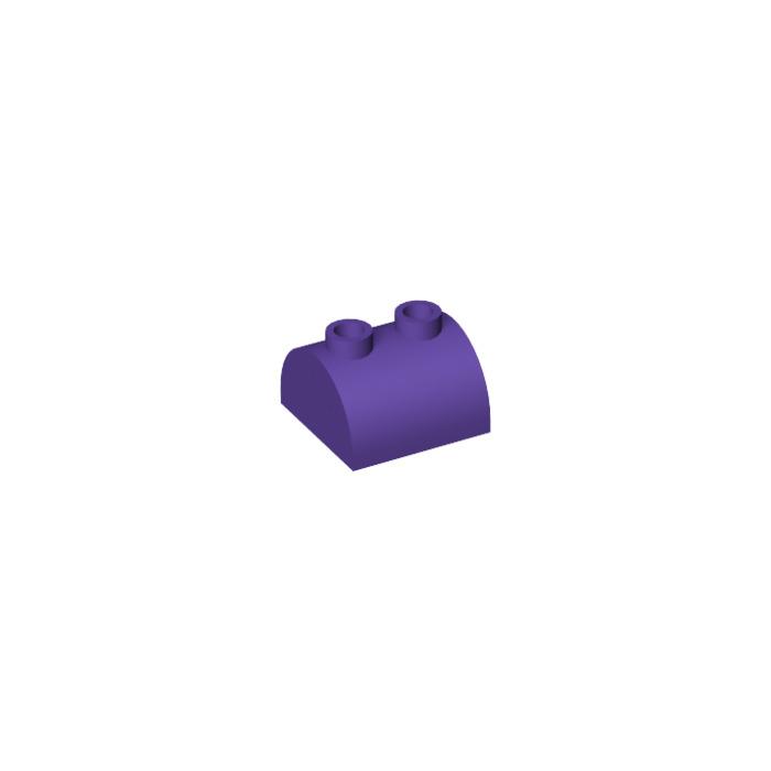 10x LEGO NEW 2x2 Dark Purple Brick Curved Top 2 Studs 6174640 Brick 30165