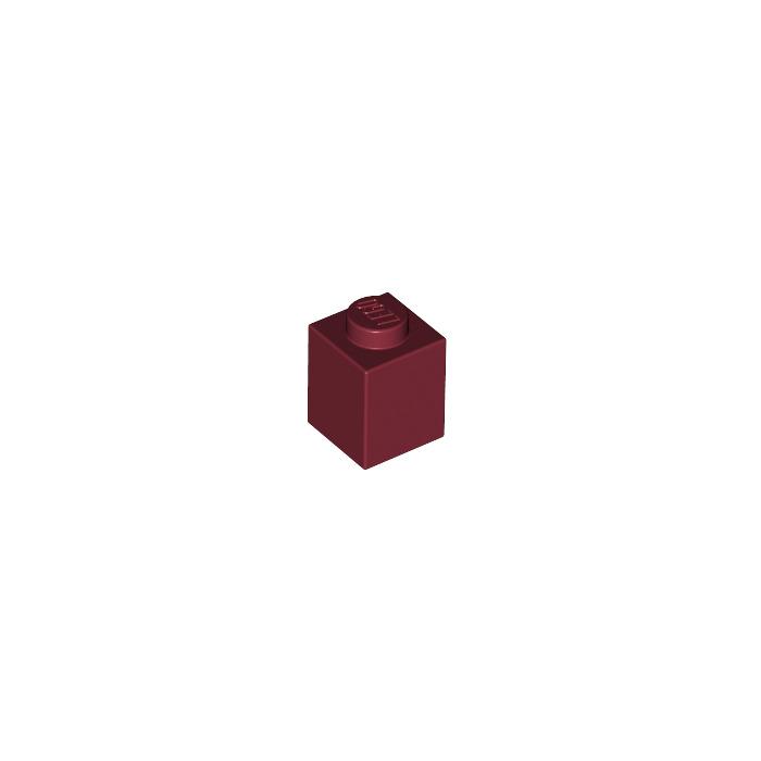 LEGO 3005 brick 1x1 red quantity of 50