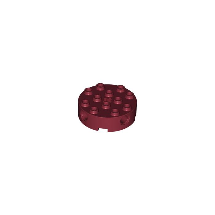 LEGO Dark Red Brick 4 X Round With Holes 6222