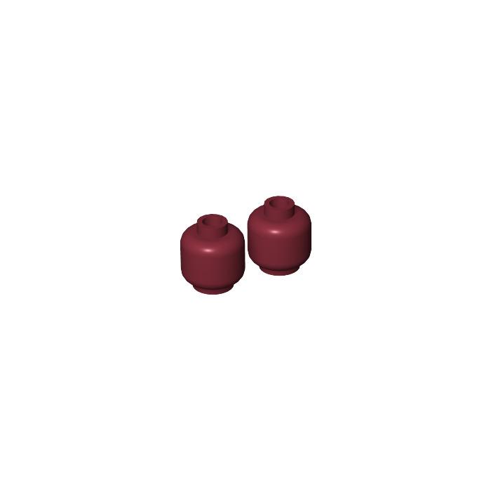Lego Red Plain Head x 1 for Minifigure