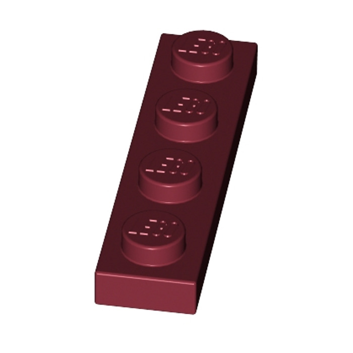 LEGO® Black Plate 1 x 4 Design ID 3710