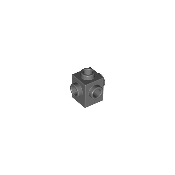 Brick 1x1 Studs 4 Sides NEW NEW 6 x LEGO 4733 Brick 4 Studs dark grey