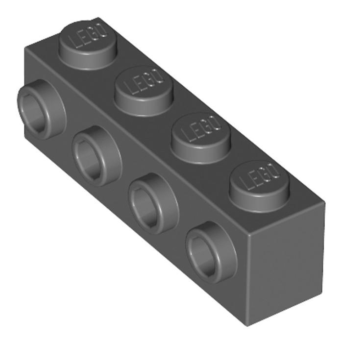 2x LEGO 30414 Mattoncino Studs sul lato 1x4 Marrone6153594