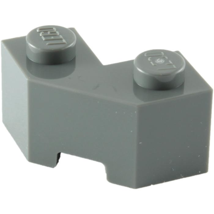 6 Brick LEGO Parts ~ Modified Facet 2 x 2 LIGHT BLUISH GRAY 87620