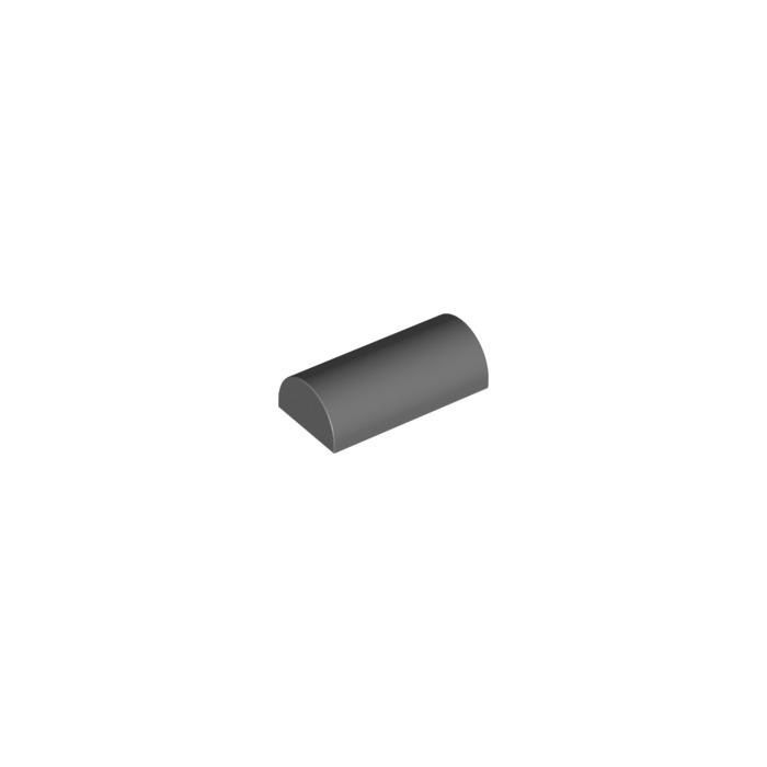 7851cdeebe65 LEGO Dark Stone Gray Brick 2 x 4 with Curved Top (6192)