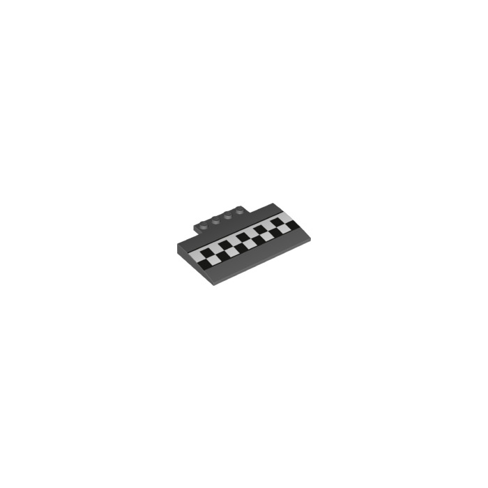 Lego dark stone gray curved slope 5 x 8 x with for Decoration 66