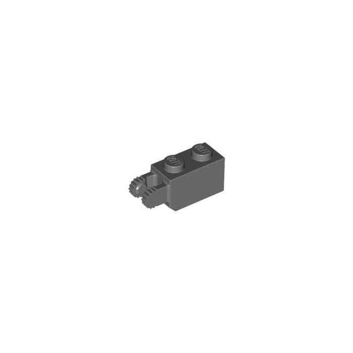 Choose Quantity Lego Brick Brique 1x2 2x1 Hinge 30365 Old Dark Gray