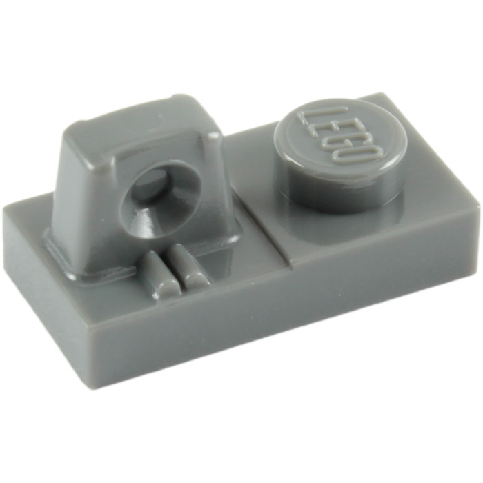 11 Pcs LEGO 30387 Med Stone Gray 1x4 HINGE BRICK 1 x 4 Locking Double