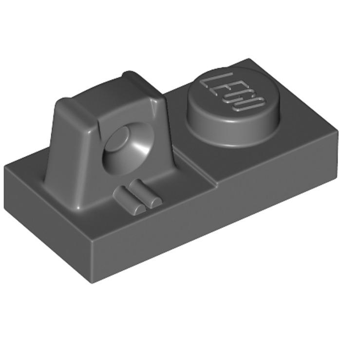 K1 # LEGO PLATE 1x2 finger vertically Old Dark Grey 30383 10 Piece