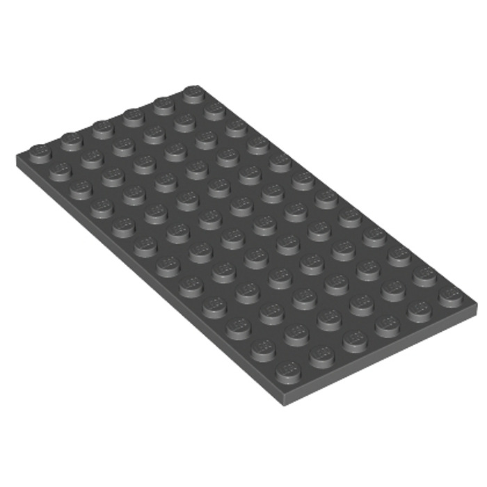 1 x 3028 lego plate new new dark grey plate 6x12 dark grey gray