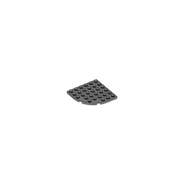 round corner 6x6 6003 Lego black plate 5 parts