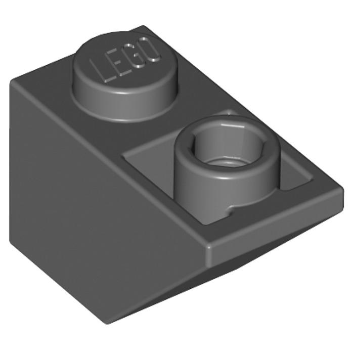 1x Lego Oblique Dachstein White 45 ° 2x2 printed with Airplane Control 3039pb045