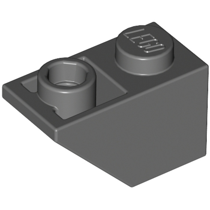 Lego 40 pieces 3665 White Dachstein Oblique Stone 1x2 Tile Basic Inverse