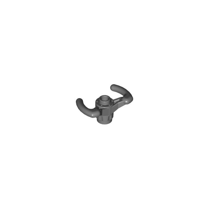 18352 6082043 Lot of 2 /_Dark Stone Grey LEGO Technic Steer.wheel//sport