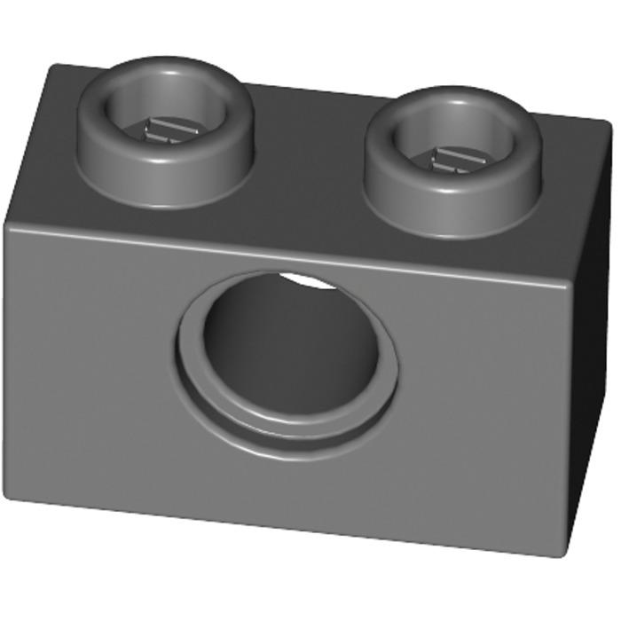 10x LEGO NEW 1x2 Dark Stone Grey Technic Brick with Hole 4211111 Brick 3700
