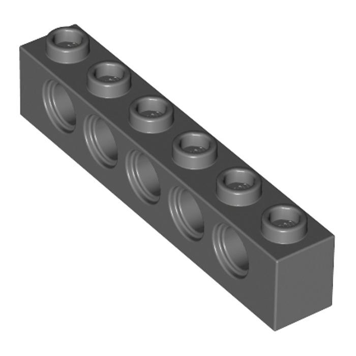 LEGO PART 3894 TECHNIC BRICK 1 X 6 WITH HOLES BLACK X 3 PIECES