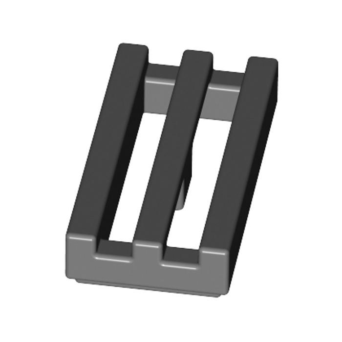 LEGO-GENUINE  1DARK TAN 1 dark grey 8X8 MESH GRILL 2 PIECES D233