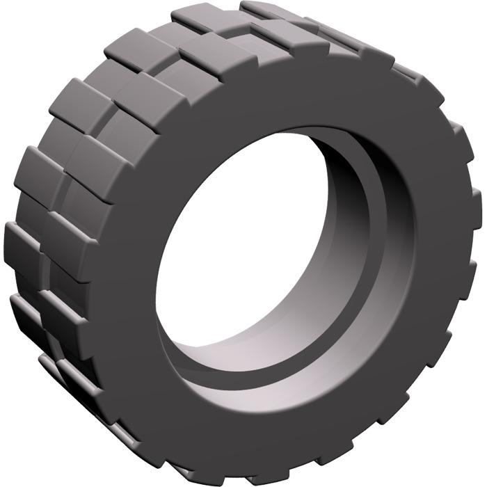 LEGO Dark Stone Gray Tire Ø 17.6 x 6.24 without Band