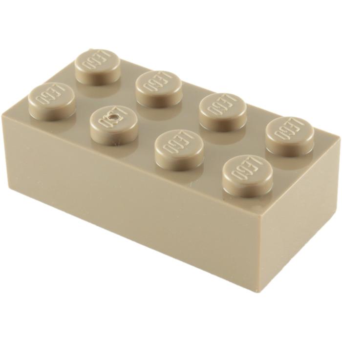 LEGO 20 x Basisstein alt braun Brown Basic Brick 2x4 3001